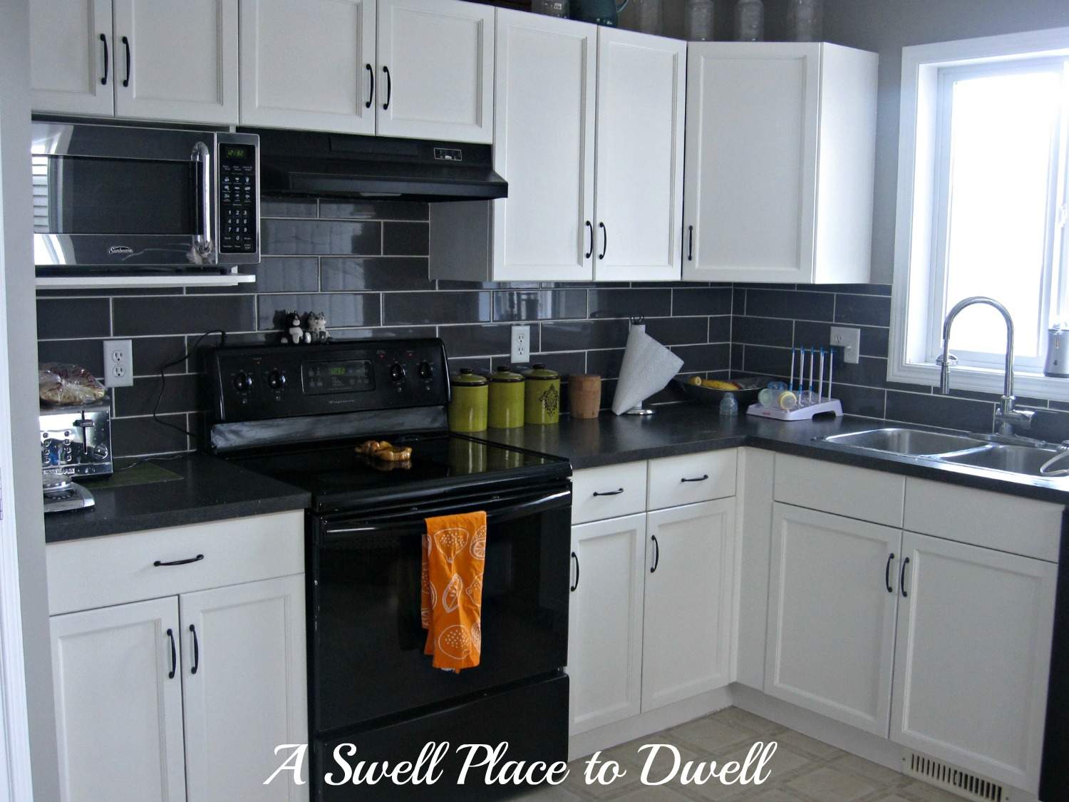 Black Kitchen Cabinets With Black Appliances Kitchen Cabinets With