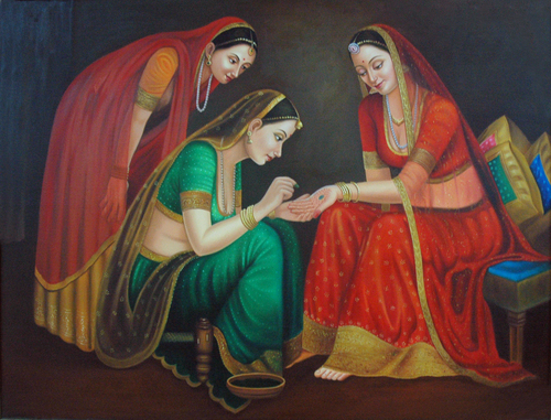 Rajasthani Girls Art Paintings 7