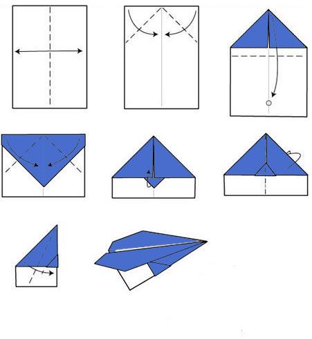 Как сделать бумажного самолетика фото