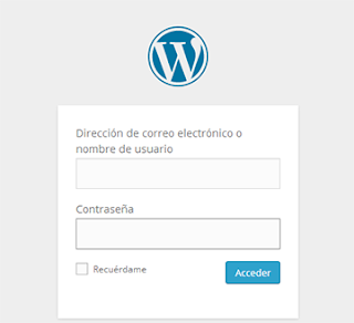 inicio sesion en wordpress
