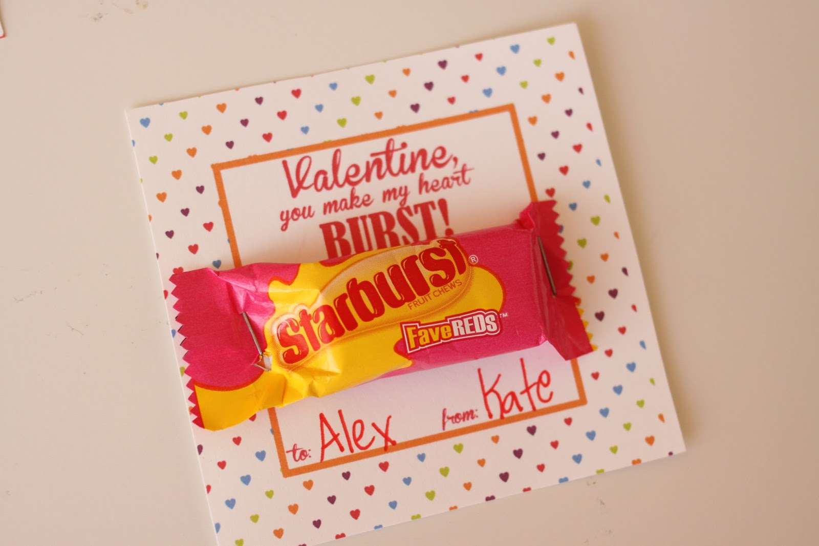 It is a photo of Sizzling Starburst Valentine Printable