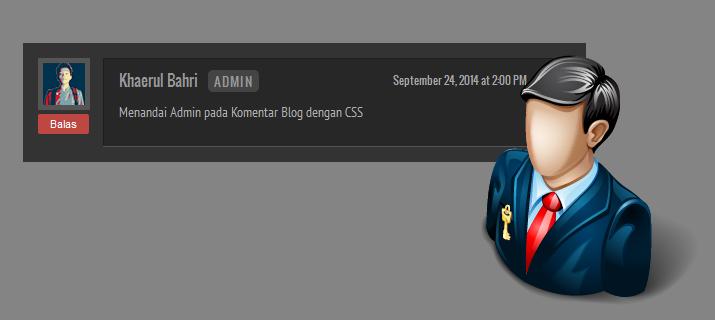 Menandai Admin pada Komentar Blog dengan CSS