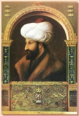 Ressam Bellini'nin, döneminde Fatih tarafından yaptırılan Fatih Sultan Mehmet (Mehmed / Mehemmed Han Portresi)