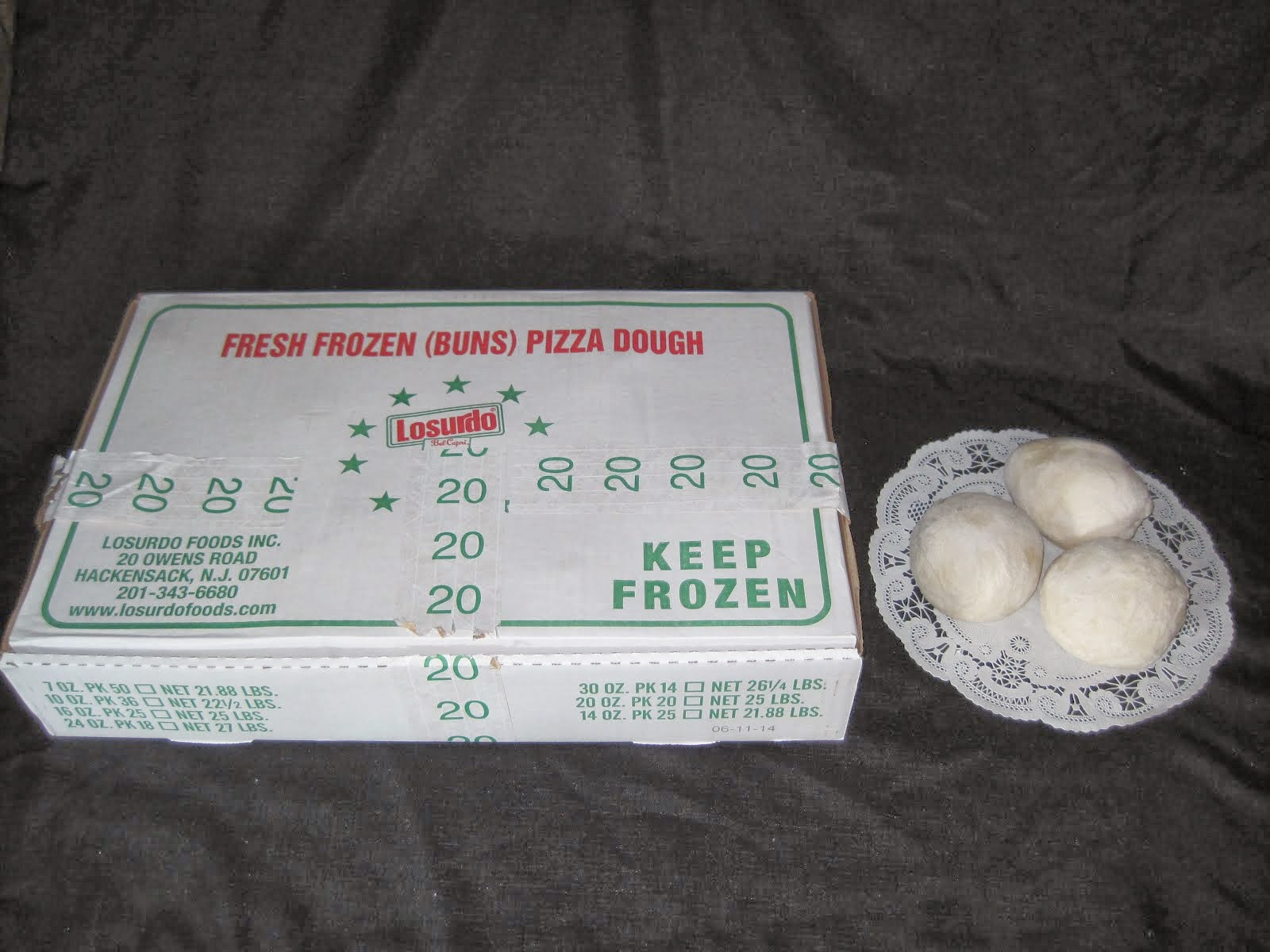 Losurdo Dough Balls 16,20,22, & 24 oz - Item # 27475, 27480, 27500, & 27505