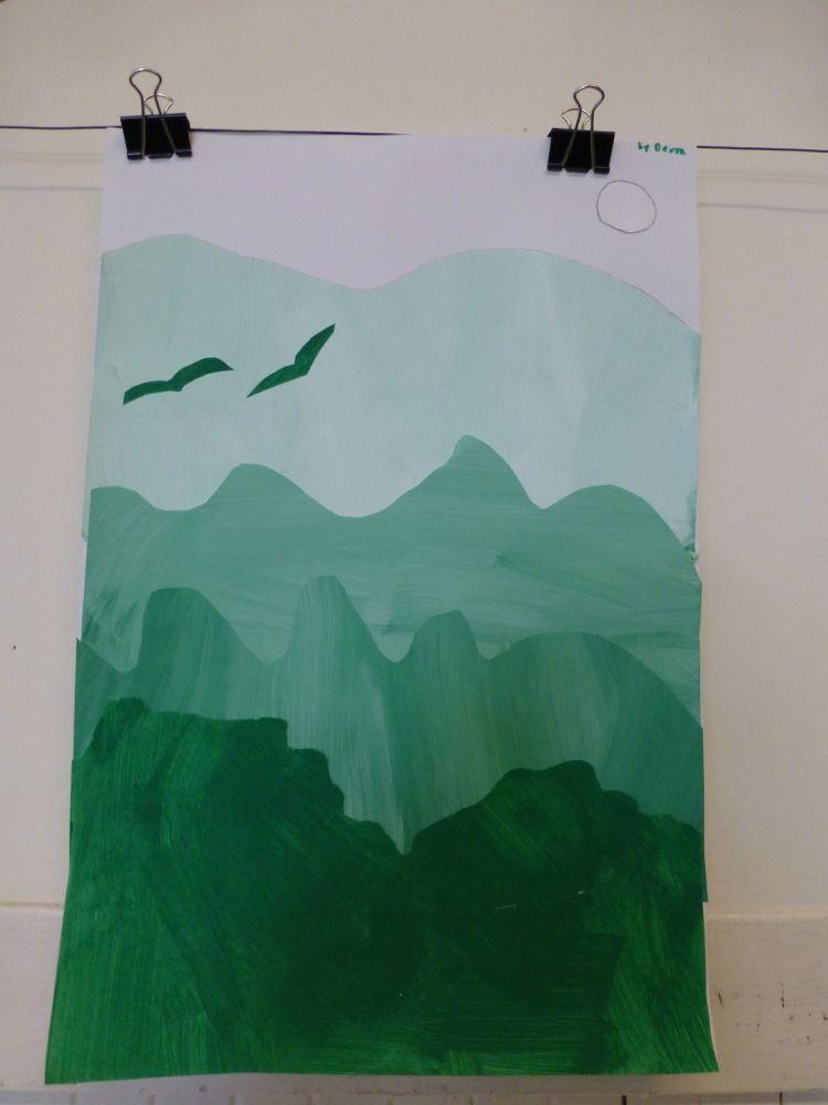 The Accidental Art Teacher: Color Value landscapes