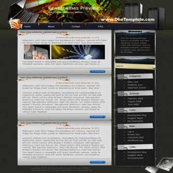 Spiralling blogger template. converted WordPress to Blogger template