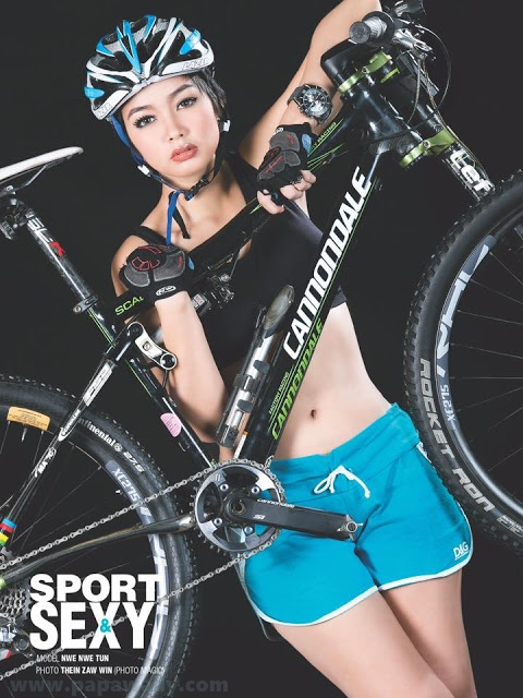 Nwe Nwe Htun - Let's Go For Cycling Photoshoot Album (2)