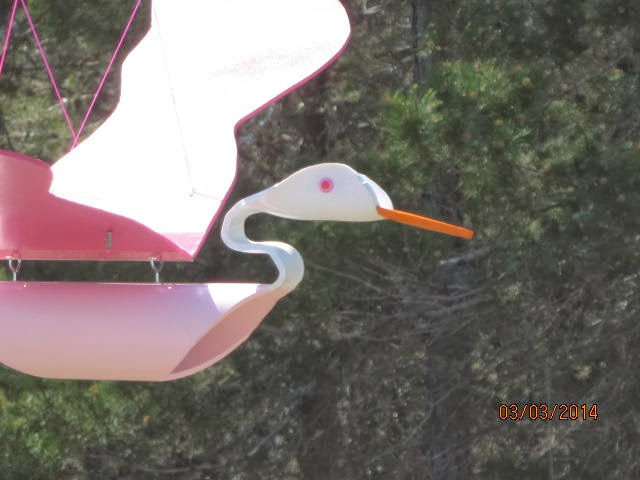 Pvc pipe birds pink lady pvc bird for How to make pvc pipe birds