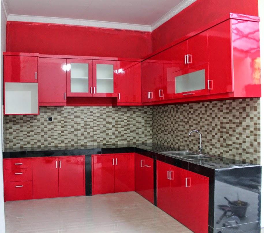 Desain Interior Dapur Warna Merah Nan Elegan Desain Dapur