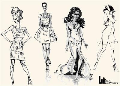 bocetos de moda mujeres