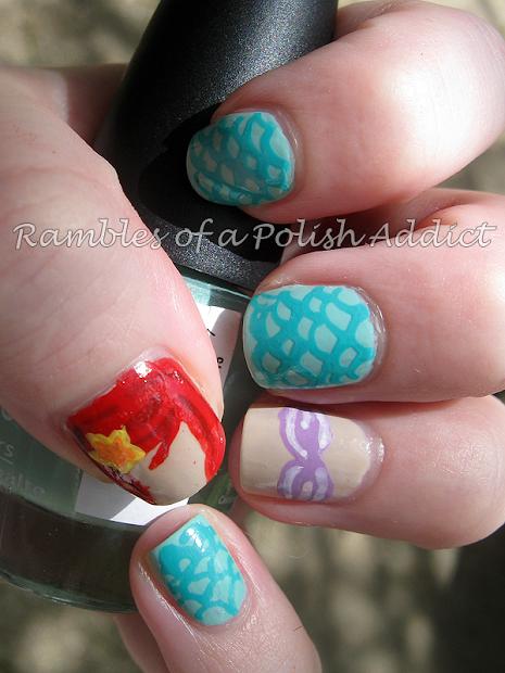 disney nail art challenge day 17