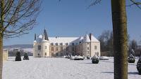 Château de Condé sous la neige - Photo inédite de la Route du Champagne