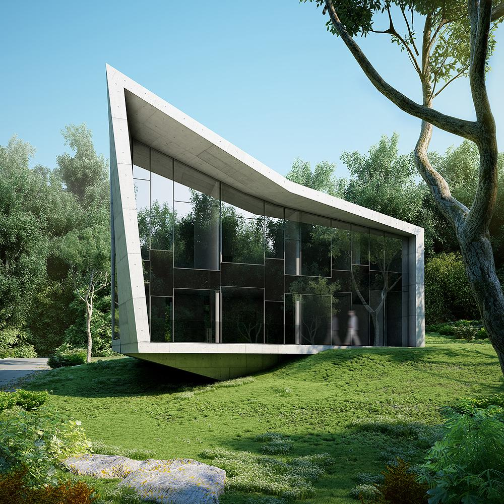 Squared edge house for Amazing architecture homes