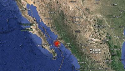 FUERTE SISMO DE 6,8 GRADOS SE REGISTRA EN EL GOLFO DE CALIFORNIA