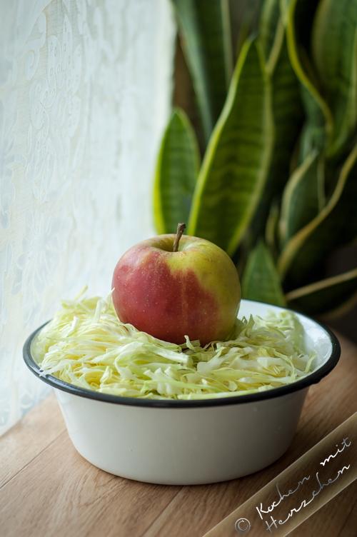 Schneller Krautsalat mit Spitzkohl