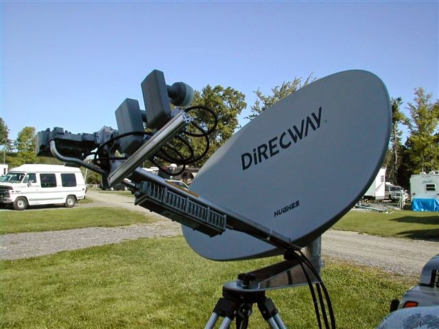 Direcway dish with HDTV attachments