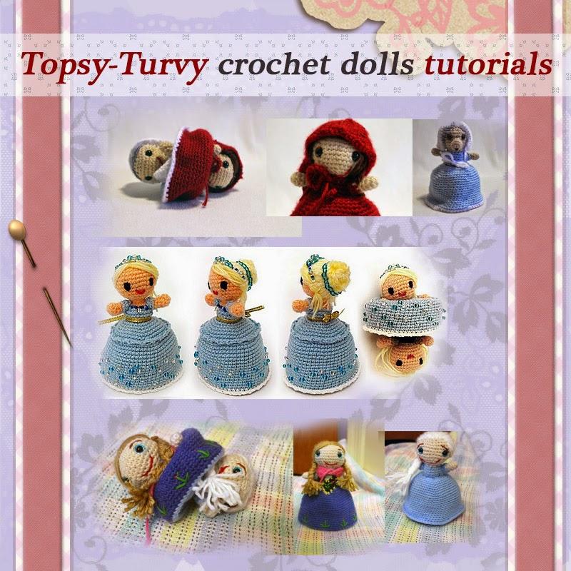 Net Find Of The Week Topsy Turvy Crochet Dolls Pattern