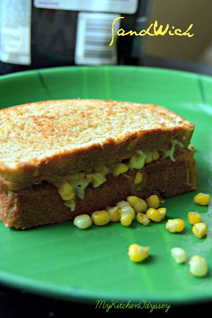 corn cheese sandwich3