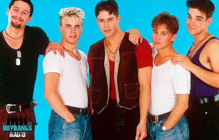 Take That definitely had some cheesy looks at the beginning of their career in the eary nineties. Listen to them every day on BoybandsRadio.com