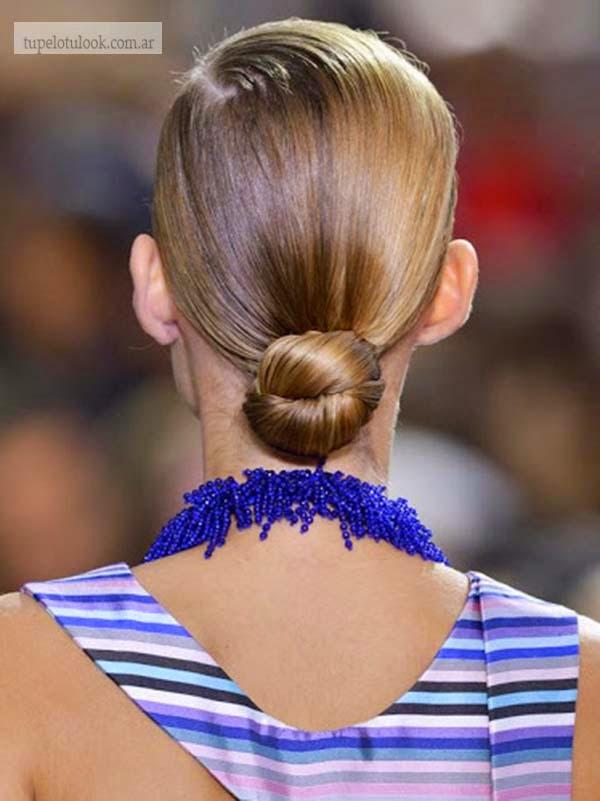peinados faciles rodete