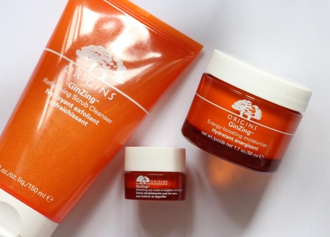 Origins Ginzing moisturiser and refreshing scrub cleanser