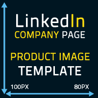 Linkedin Company Page product image Template 100x80 pixels