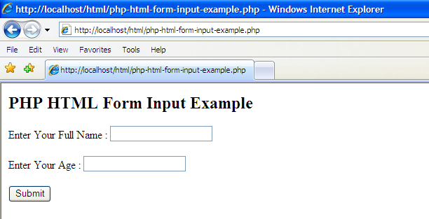 php input