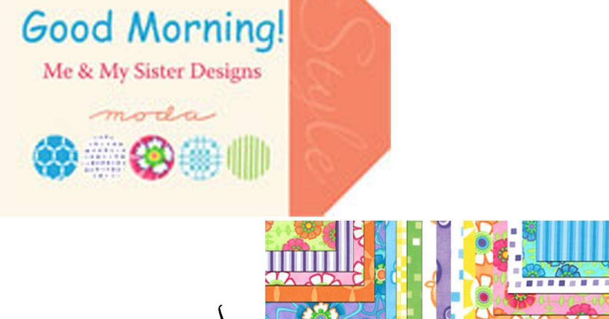 Crazy Quilt Girl Fabric Shop Moda Good Morning Fabric