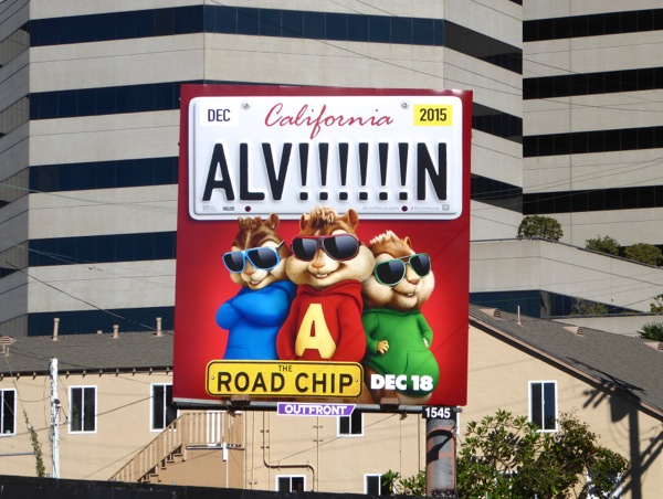 Alvin and the Chipmunks Road Chip billboard