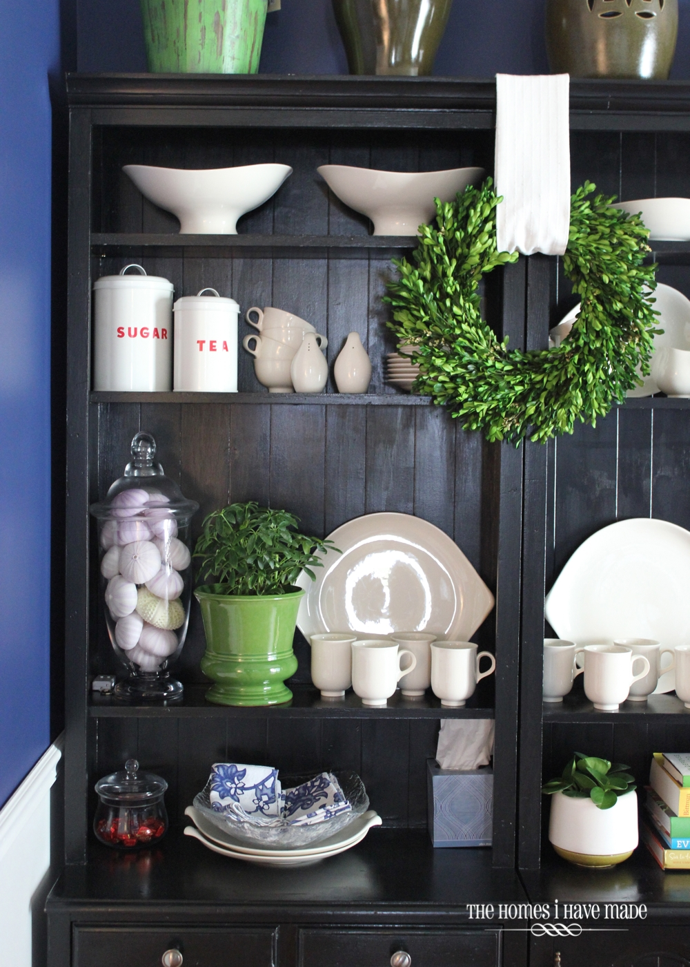 Styling Bookcases as a Dining Hutch | The Homes I Have Made