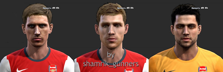 PES 2013 Arsenal Facepack by shamrik gunners