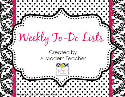 Free Weekly To-Do  from A Modern Teacher