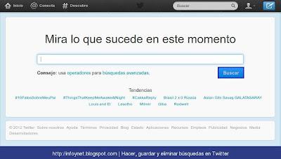 Página de búsqueda de Twitter