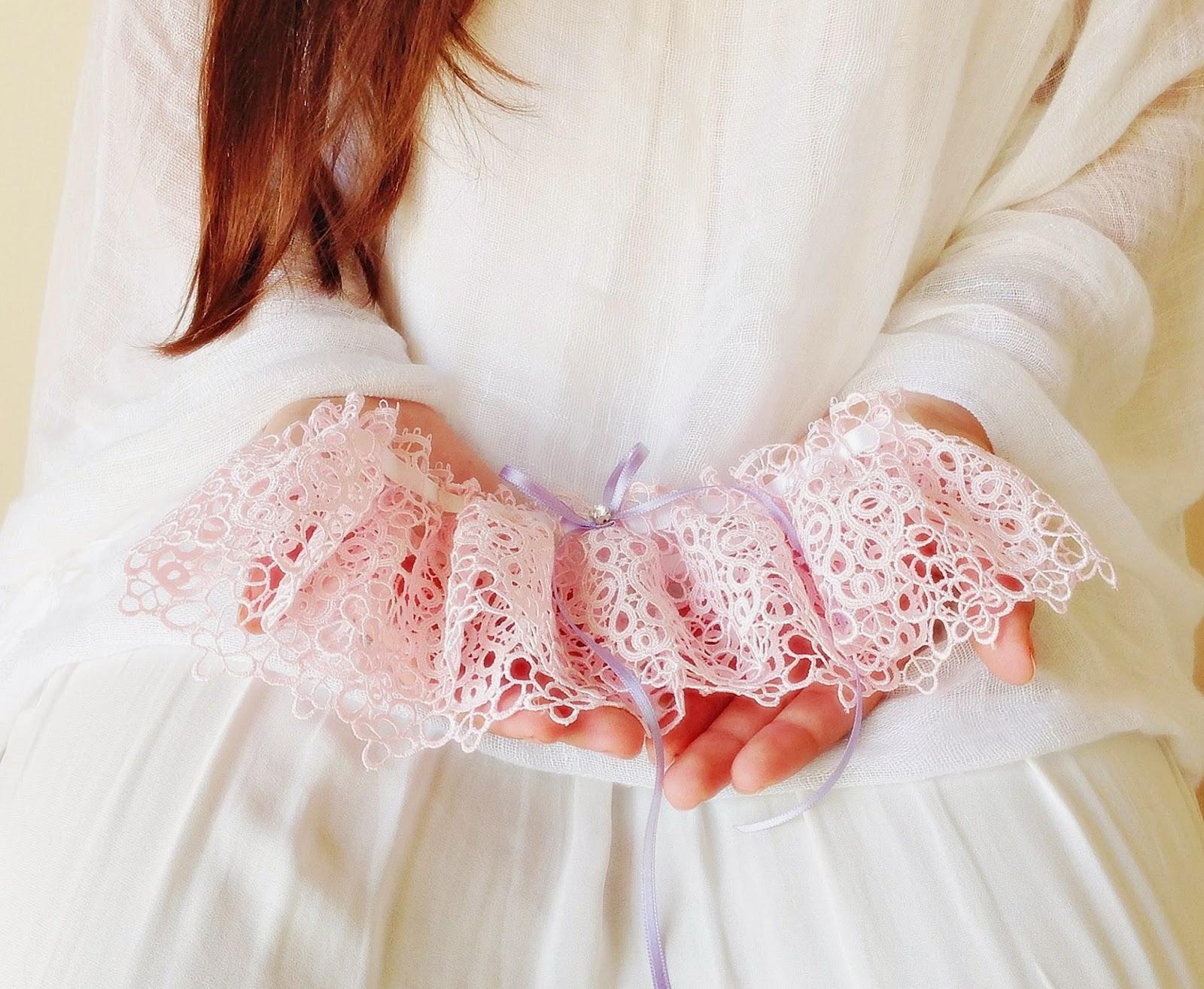 liga em crochet rosa