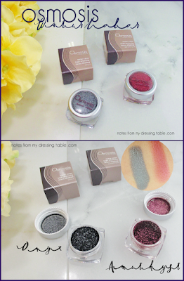 Osmosis Water Color Eye Shadow review and Swatches notesfrommydressingtable.com