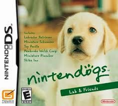 Lab and friends Nintendogs game for the Nintendo Ds
