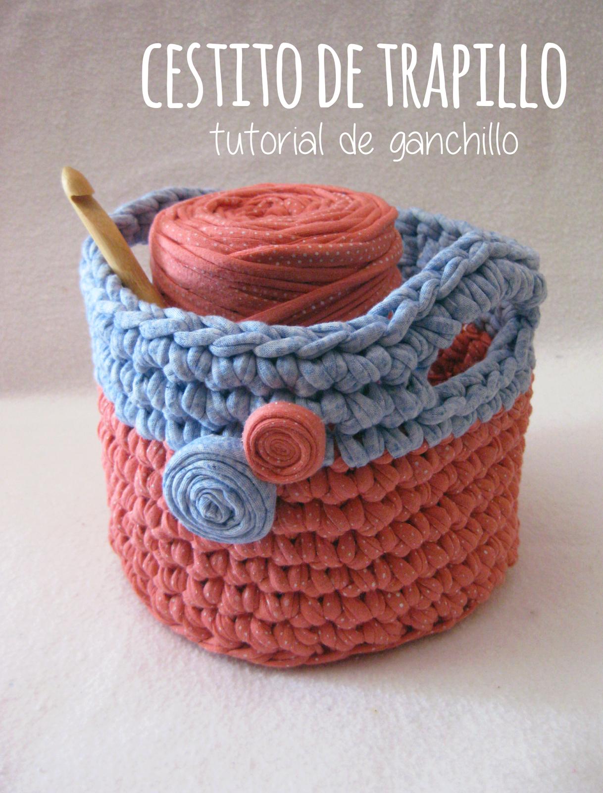 Proyecto handmade c mo hacer una cesta peque a o cestito - Cosas de trapillo ...