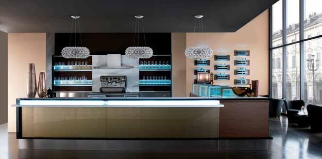 Degart vetrine espositive orizzontali da banco per bar e for Arredo bar napoli