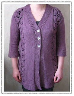 Birch Cardigan knitting pattern by Littletheorem. lace cardigan pattern