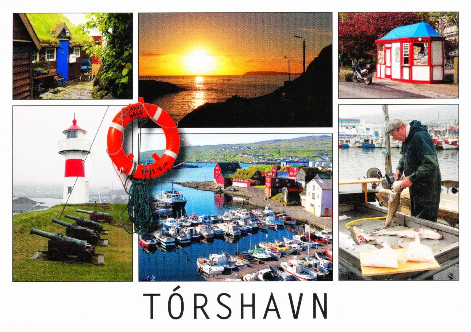 tórshavn, postcard, faroe islands, harbor