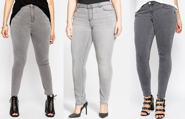 Plus Size Grey Jeans | Bbg Clothing