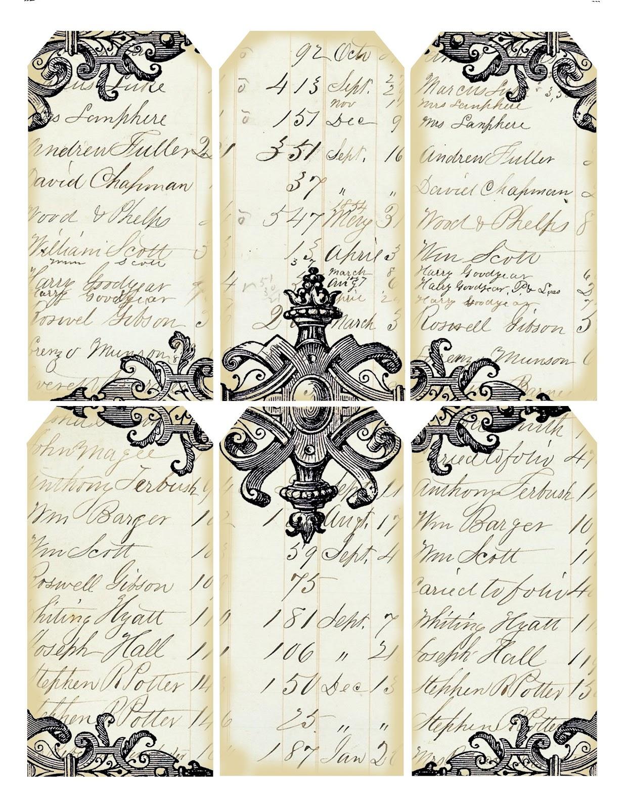 Adaptable image inside printable vintage labels
