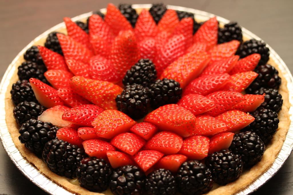 Check The Fridge Fresh Berry Custard Pie