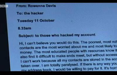 A mensagem da jornalista Rowenna Davis ao hacker que roubou seu e-mail
