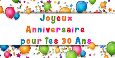 sms anniversaire humour 30 ans