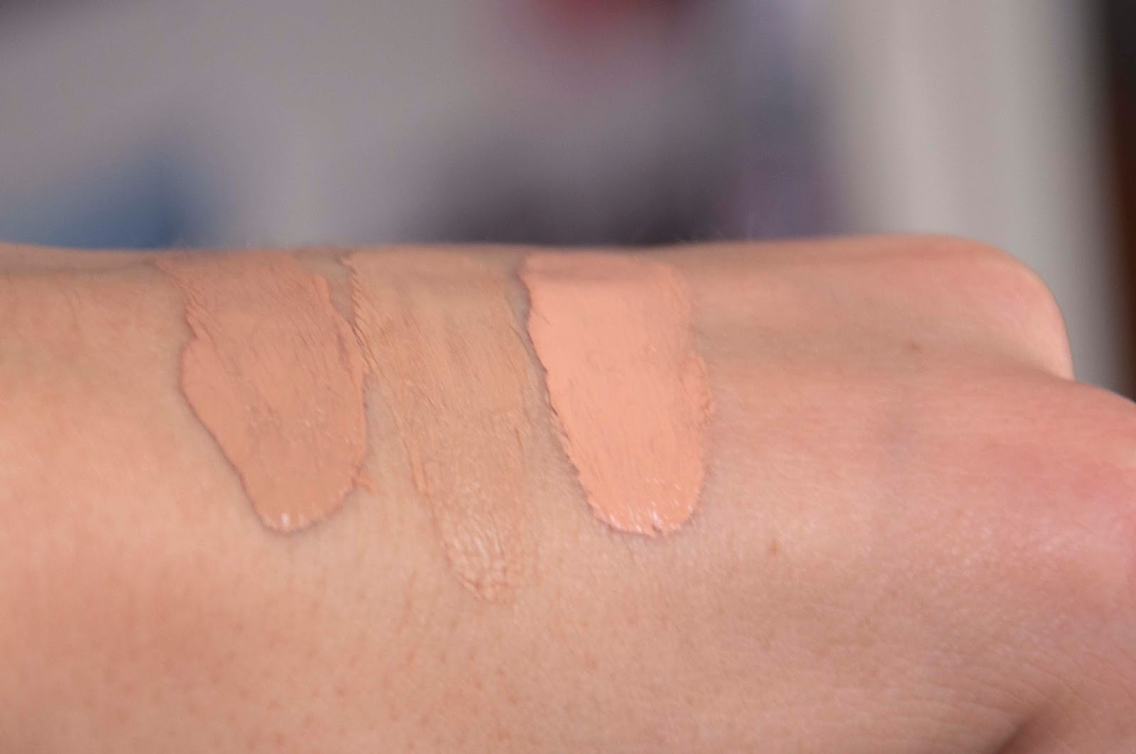 Diorskin Nude Foundation Swatches 030 031 032