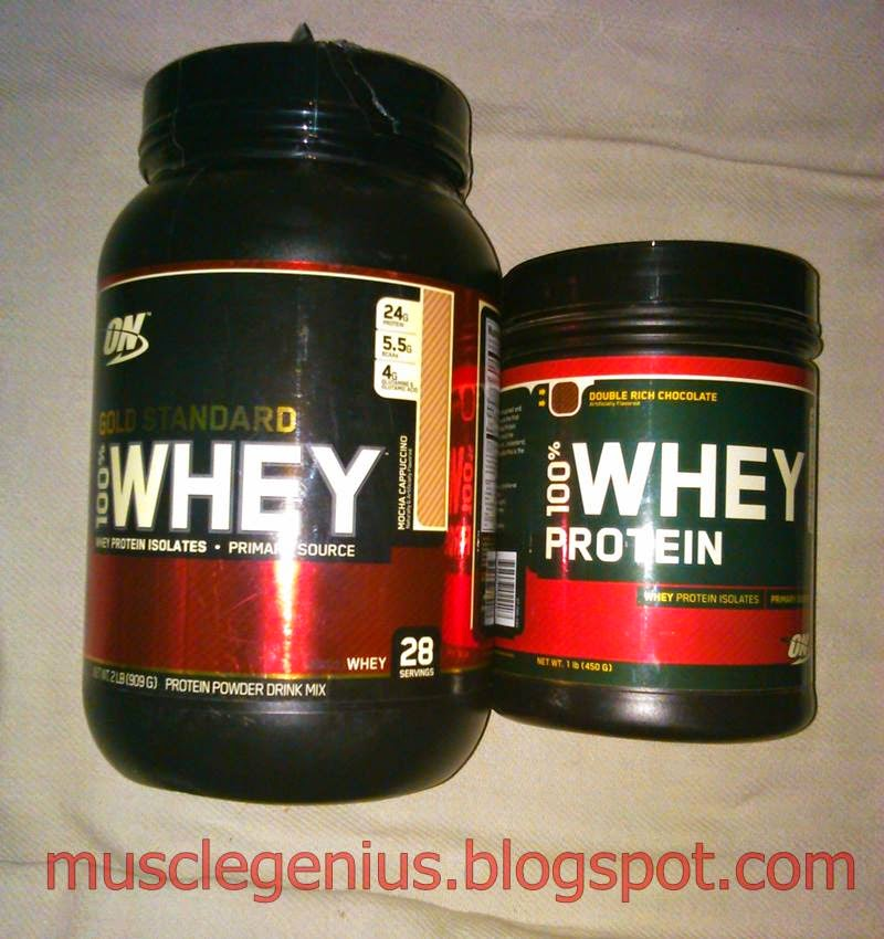 ON Gold standard Whey protein 1lbs, 2lbs containers