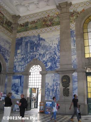 Azulejos no interior da Estação de S. Bento, Porto