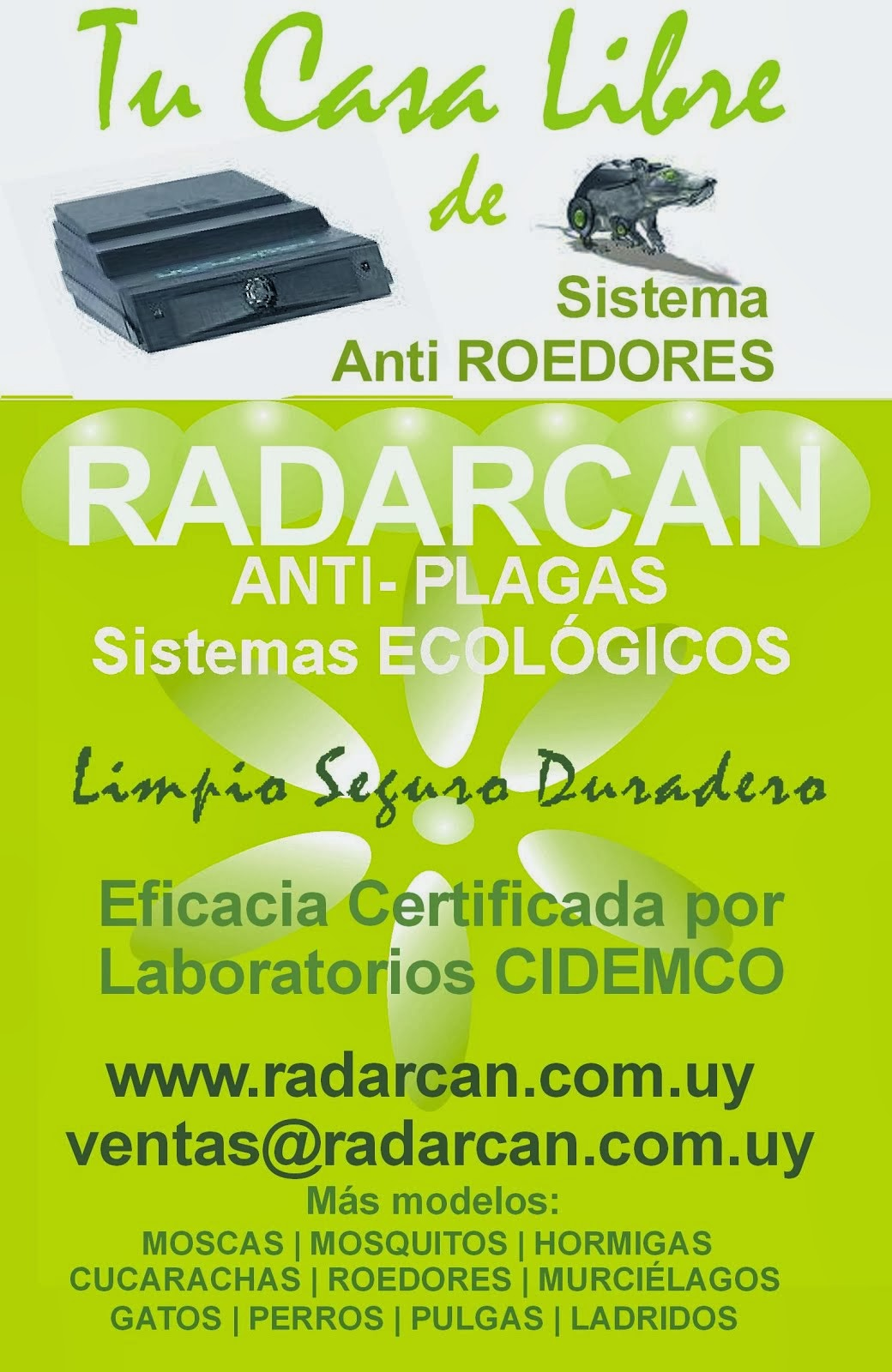 Radarcan Anti Roedores Electronico