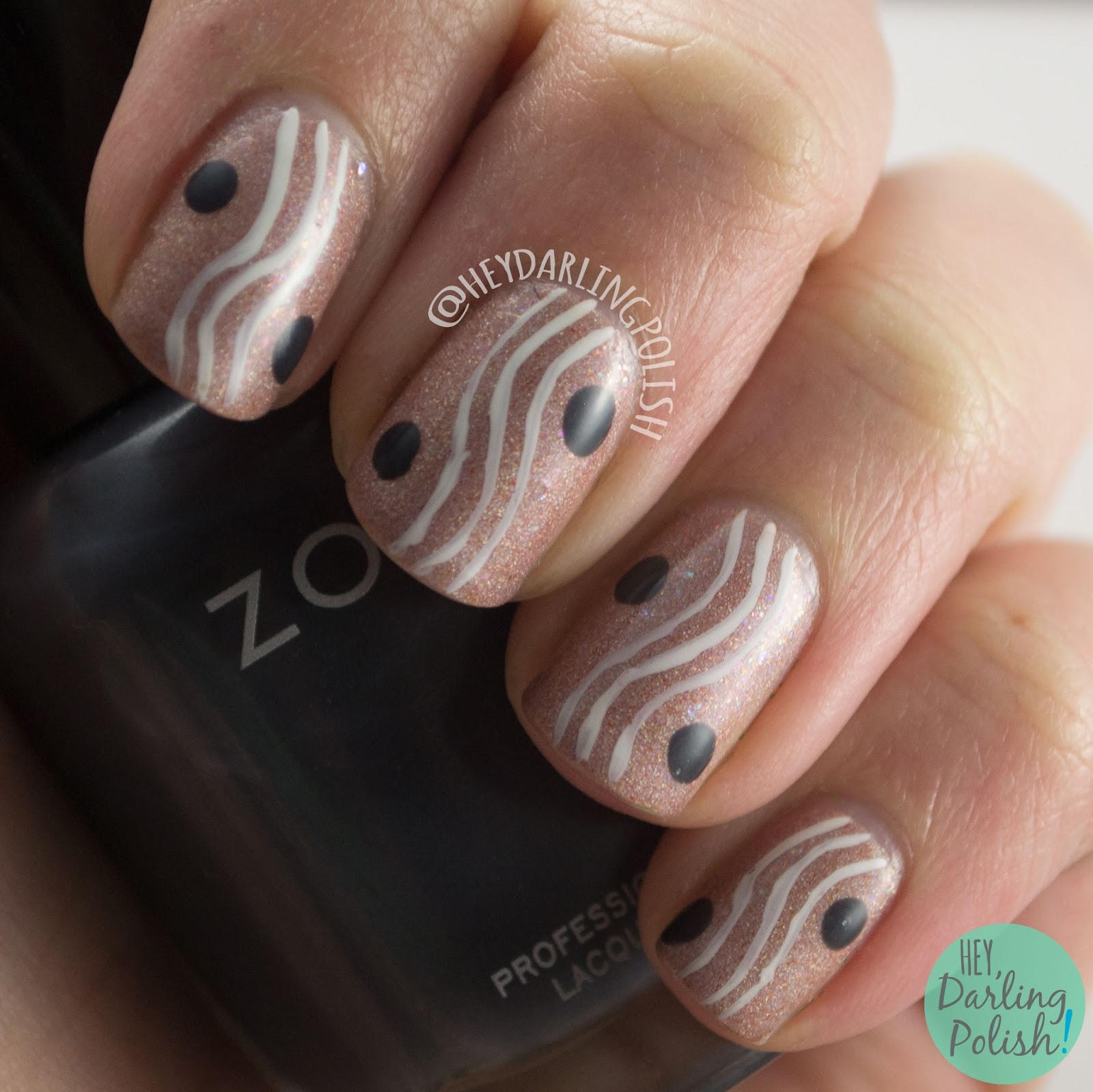 nails, nail art, nail polish, love angeline, tranquility, zen garden, hey darling polish, 2015 cnt 31 day challenge, indie polish